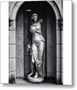 Statue Under Cover Metal Print