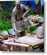 Statues Of After Noon Tea Metal Print