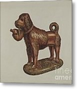 Statuette Of A Dog Metal Print