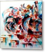 Stay Young Stay Dynamic Metal Print