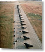Stealth Fighters 37 Tactical Fighter Wing Metal Print