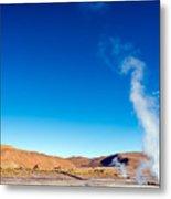Steam At El Tatio Geysers Metal Print