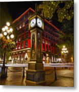 Steam Clock In Historic Gastown Vancouver Bc Metal Print