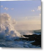Steam Cloud And Lava Metal Print