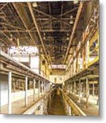 Steam Engine Repair Shop Color Metal Print