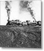 Steam Engines Pulling A Train Metal Print