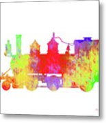 Steam Locomotive Art Metal Print