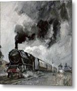 Steam Train At Garsdale - Cumbria Metal Print