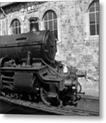 Steam Train In Station Metal Print