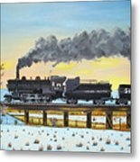 Steam Train One From Mike Massee Photo Metal Print