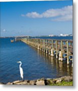 Steamboat Landing Ot Melbourne Beach In Florida  Metal Print