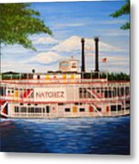 Steamboat On The Mississippi Metal Print