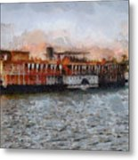 Steamboat On The Nile Metal Print