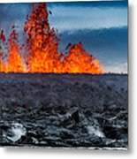 Steaming Lava And Plumes Metal Print