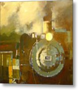 Steaming Up Mining Country Metal Print