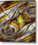 Steampunk - Spiral - Space Time Continuum Metal Print
