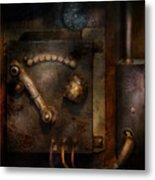 Steampunk - The Control Room  Metal Print