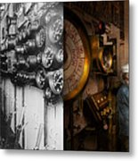 Steampunk - Controls On The Uss Washington 1920 - Side By Side Metal Print