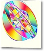 Steampunk Gyroscopic Rainbow Metal Print