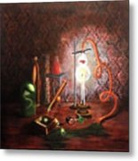 Steampunk Laboratory Metal Print
