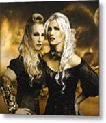 Steampunk Maidens Metal Print