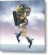 Steampunk Ocean Tale Metal Print