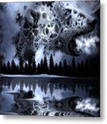 Steampunk Polar Bear Landscape Metal Print
