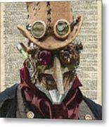 Steampunk Robot Metal Print