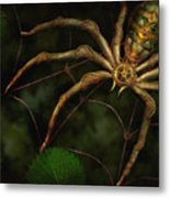 Steampunk - Spider - Arachnia Automata Metal Print by Mike Savad
