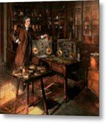 Steampunk - The Time Traveler 1920 Metal Print