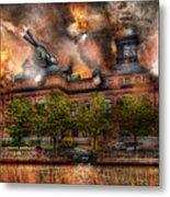 Steampunk - The War Has Begun Metal Print