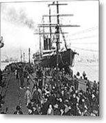 Steamship In Japan Metal Print