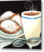 Steamy Coffee Swirls Metal Print