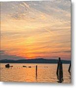 Steamy Hudson River Sunrise Metal Print