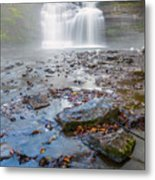 Steamy Morning At Pixley Falls Metal Print