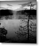 Steamy Pool Metal Print