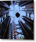 Steel And Sky Metal Print