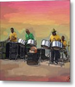 Steel Pan Players Antigua Metal Print