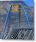 Steel Pedestrian Bridge In Ibarra Metal Print