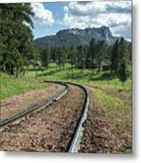 Steel Tracks In The Black Hills Metal Print