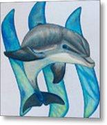 Steemit Dolphin Metal Print