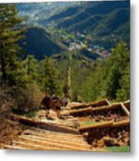 Steep Manitou Incline And Barr Trail Metal Print