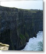 Steep Sheer Sea Cliff's Known As The Cliff's Of Moher Metal Print