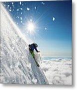 Steep Summer Volcano Skiing Metal Print