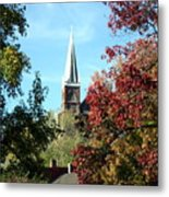 Steeple At Harprs Ferry Metal Print