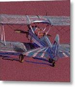 Steerman Biplane Metal Print