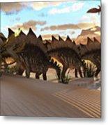 Stegosaurus Dinosaur Metal Print