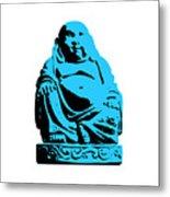 Stencil Buddha Metal Print