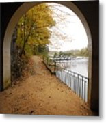 Step Into Fall Metal Print