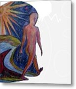 Step Thought Metal Print